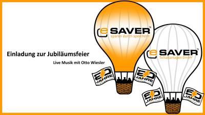 22.10. Einladung zur Jubiläumsfeier bei eSaver